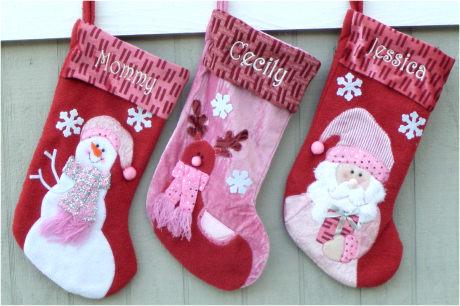 Pink Girls Christmas Stockings | Stockings For Christmas
